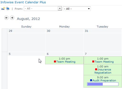 Event Calendar Plus - Ereigniskalender
