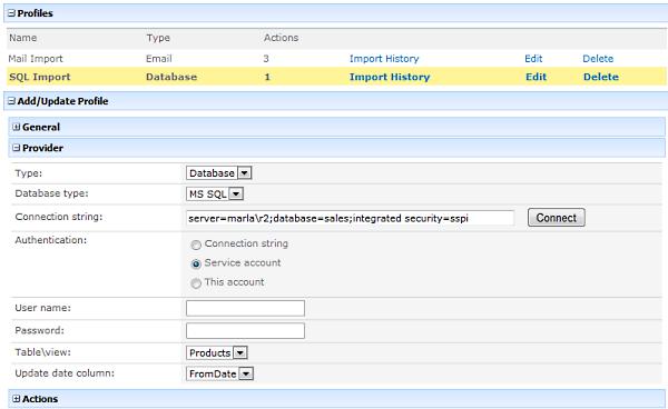 Smart Import Pro - Datenbankeinstellungen